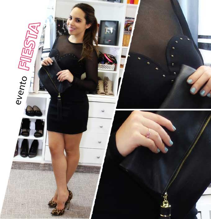 cómo usar un vestido negro - evento fiesta