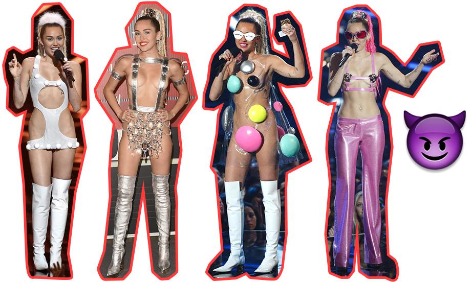 VMAs: Los looks de Miley Cyrus