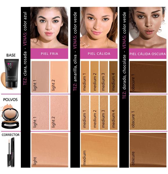 base de alta cobertura studio look, maquillaje, base, tono de piel, tono de base
