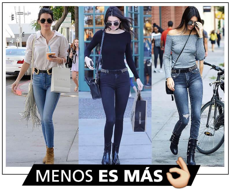 Combinar prendar básicas según Kendall Jenner