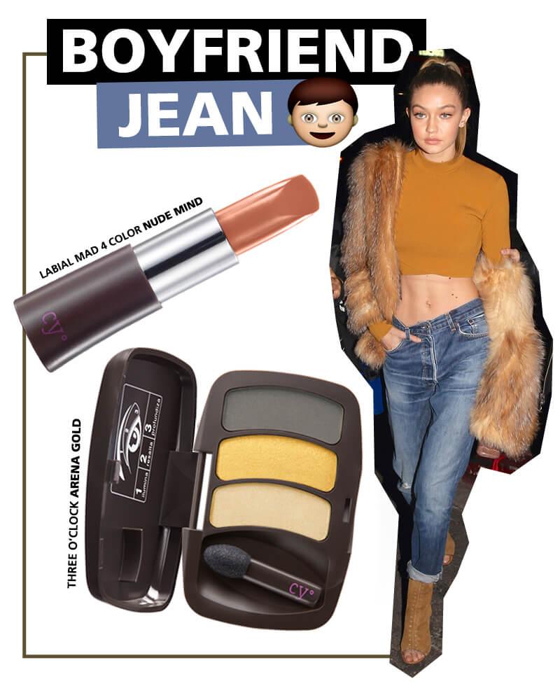 Gigi Hadid usando boyfriend jeans