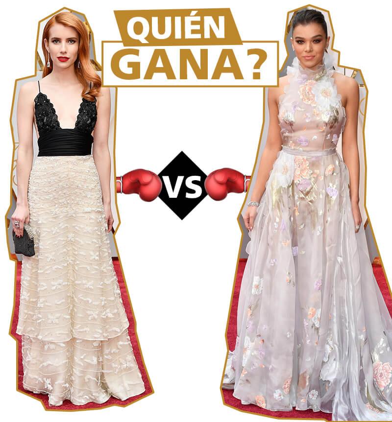 Emma Roberts y Hailee Steinfeld en los Oscars 2017
