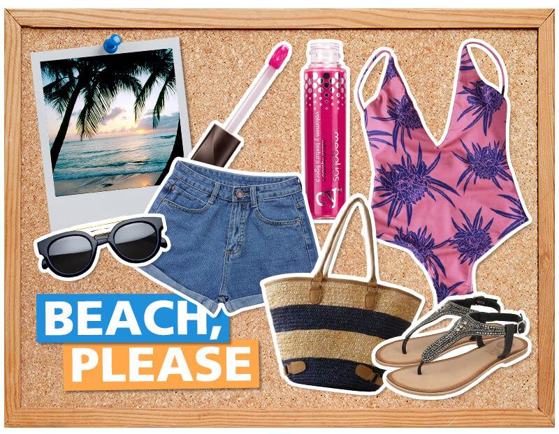 outfits viajar playa