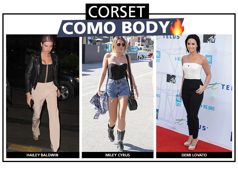 Looks con corset como body