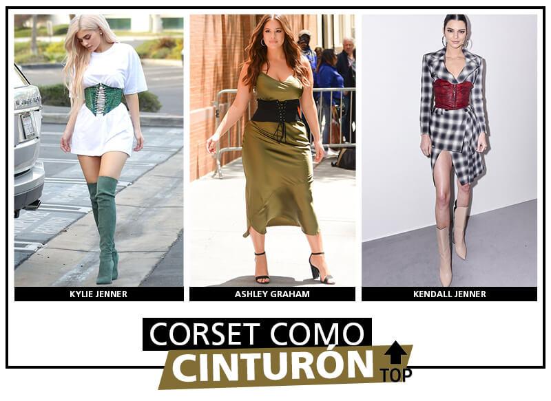 Looks con corset como cinturón
