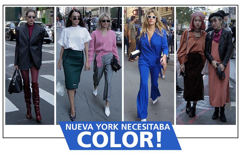 Los mejores looks del NYFW: A todo color