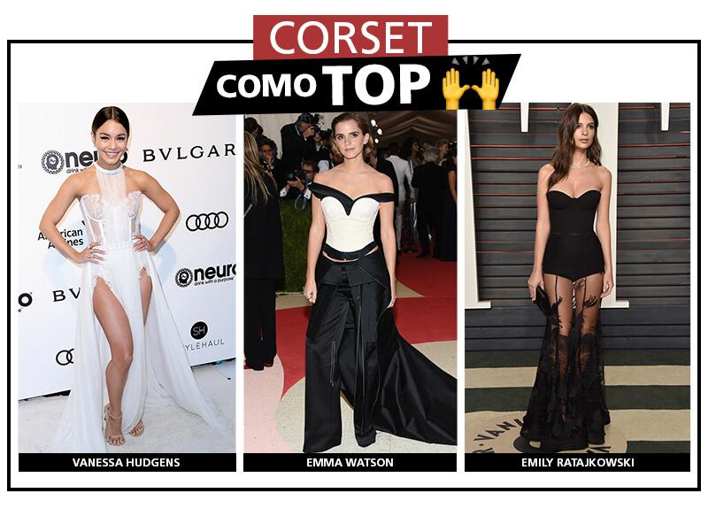 looks con corset top