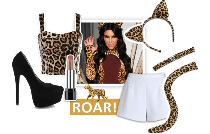 Combina tus smokey eyes con este outfit de halloween: leopardo