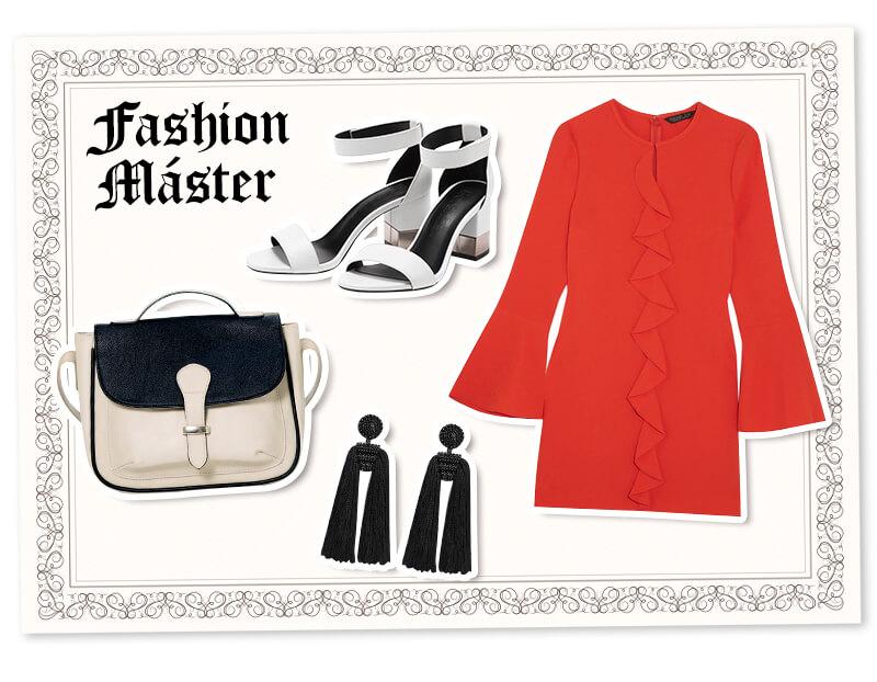 Outfits para graduación: vestido rojo