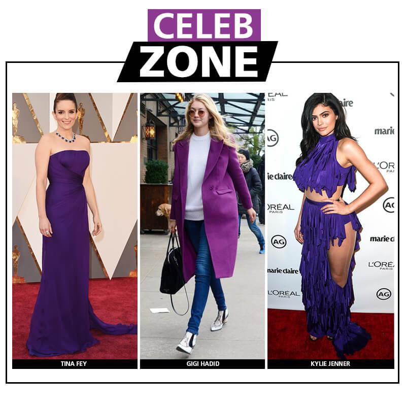 celebridades usando ultra violet