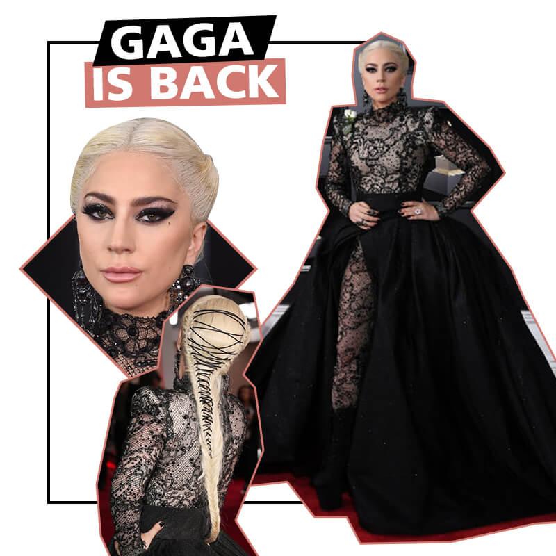 EL LOOK DE LADY GAGA EN LOS GRAMMYS 2018