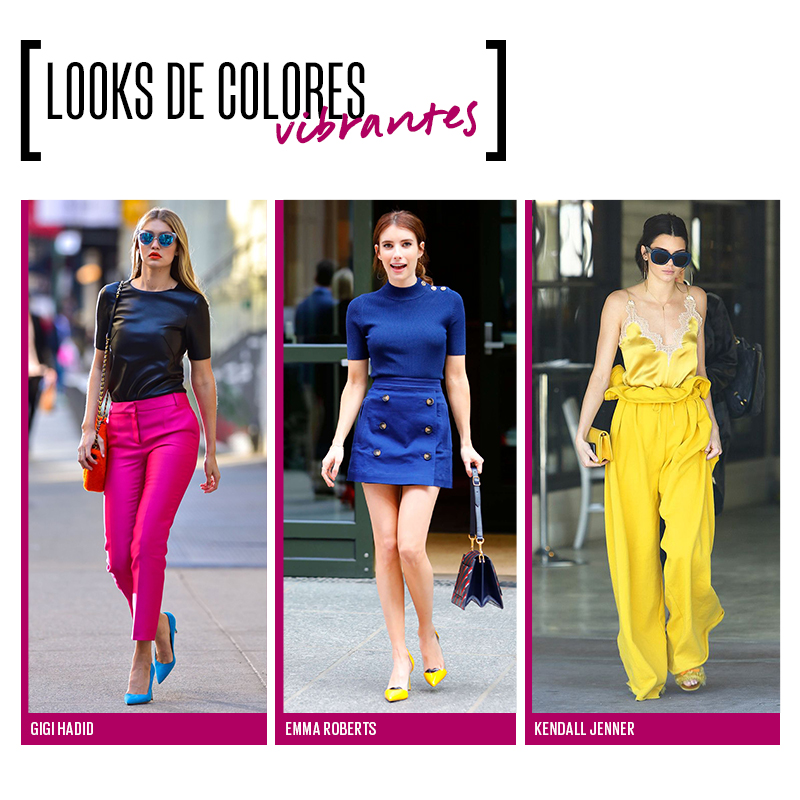 Looks de colores vibrantes