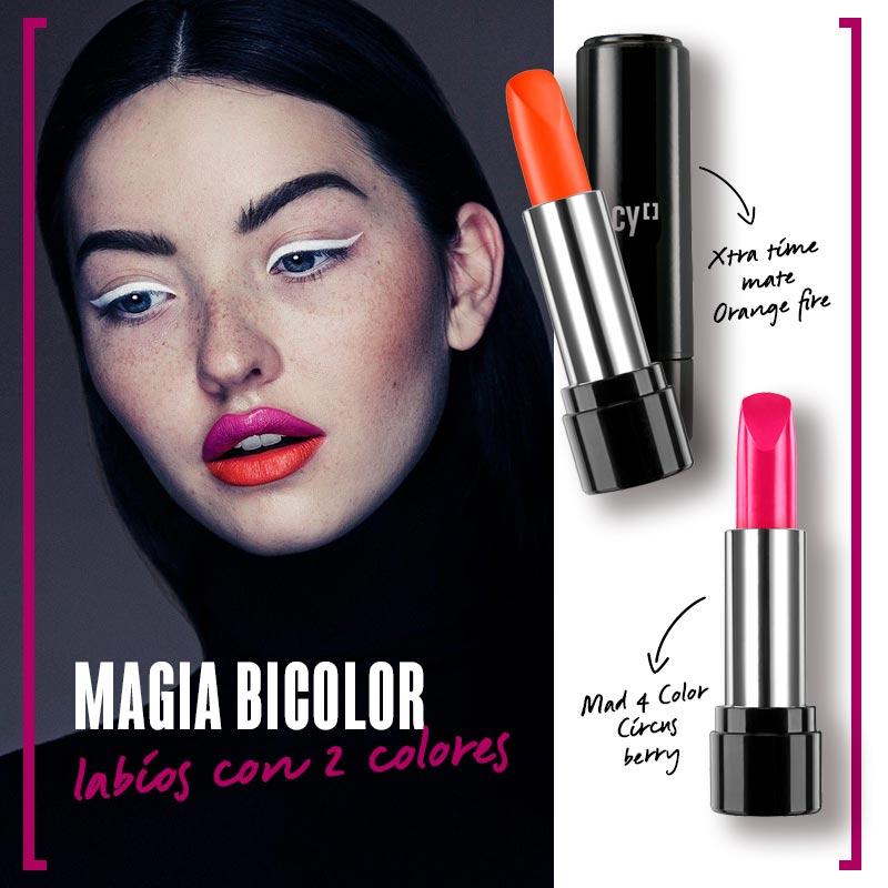 Magia bicolor: labios con dos colores | Fuente: Google Image