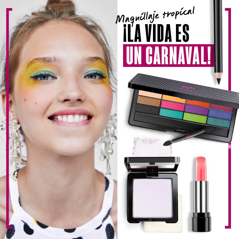 Maquillaje tropical ¡La vida es un carnaval! | Fuente: Google Image