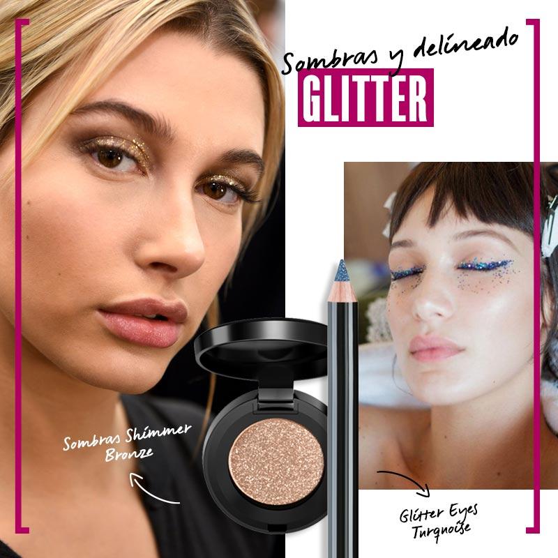 Cómo maquillar los ojos con sombras metálicas: blink my glitter | Fuente: Google Image