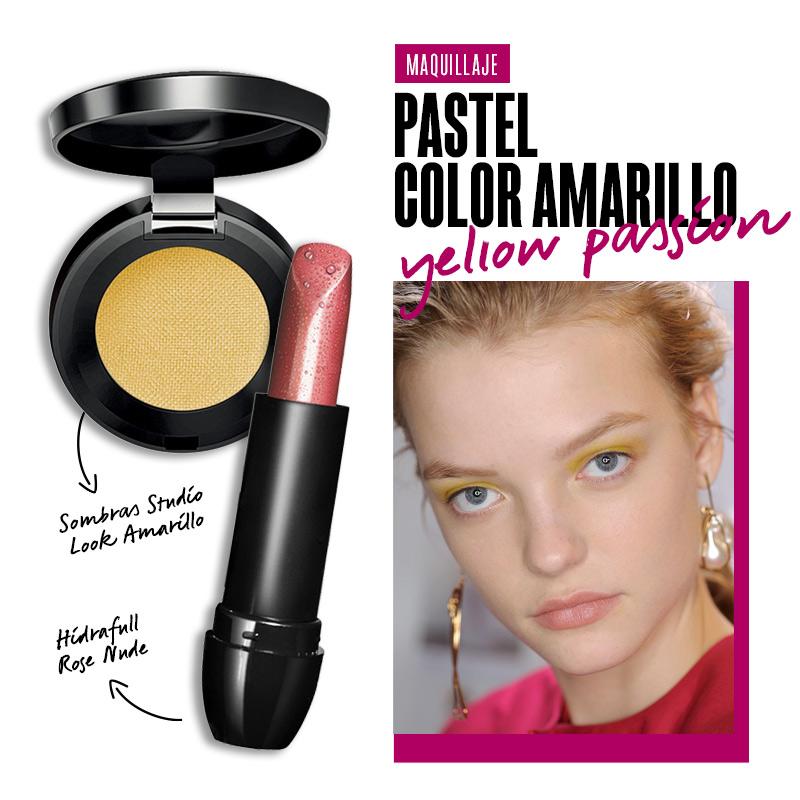 Maquillaje pastel color amarillo: Yellow passion | Fuente: Google Image