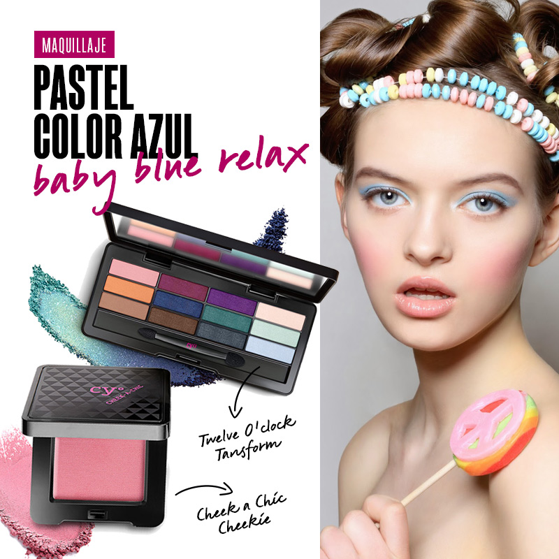 Maquillaje pastel color azul: baby blue relax | Fuente: Google Image