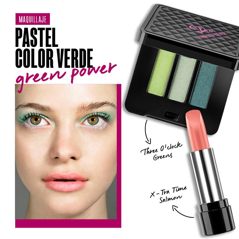 Maquillaje pastel color verde: Green Power | Fuente: Google Image