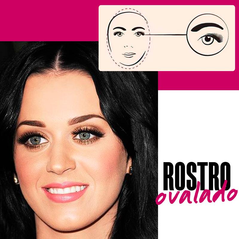 Cejas para un rostro ovalado: rostro ovalado   Fuente: Google Images
