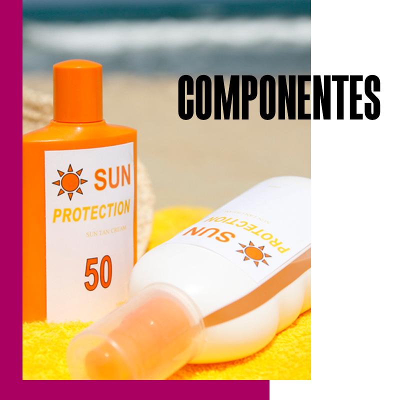 Componentes del bloqueador solar vs protectors solar: componentes | Fuente: Google Images