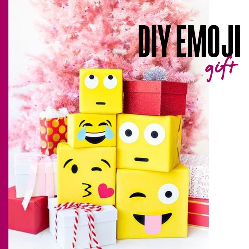Envolturas de regalos de navidad - DIY emoji gify | Fuente: Google Images
