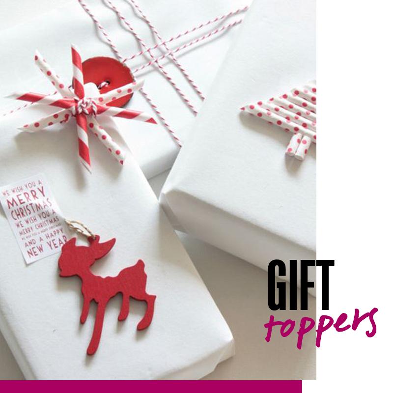 Envolturas de regalos de navidad - Gift toppers | Fuente: Google Images