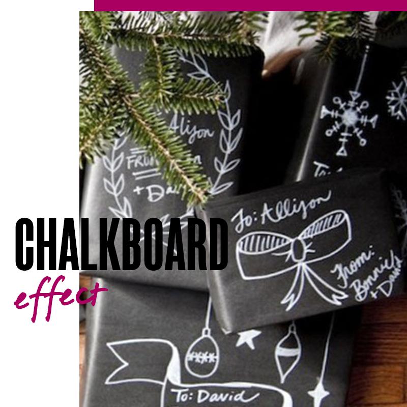 Envolturas de regalos de navidad Chalkboard effect | Fuente: Google Images