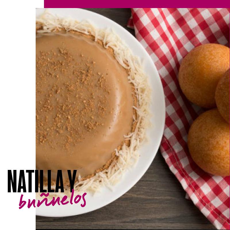 Postre colombiano: Natilla y buñuelos | Fuente: Google Images