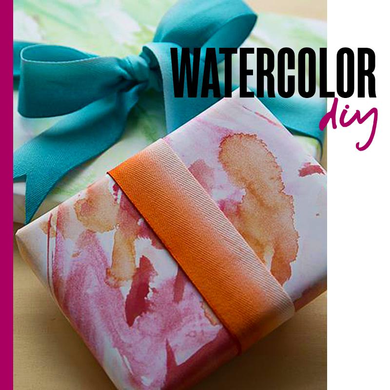 Envolturas de regalos de navidad - Acuarelas DIY: Watercolor DIY | Fuente: Google Images