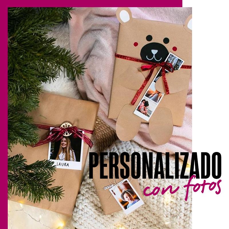 Envolturas de regalos de navidad personalizado con fotos | Fuente: Google Images