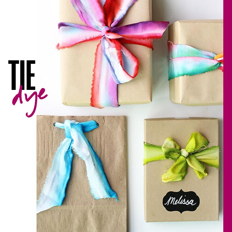 Envolturas de regalos de navidad - Regalo Tie Dye | Fuente: Google Images