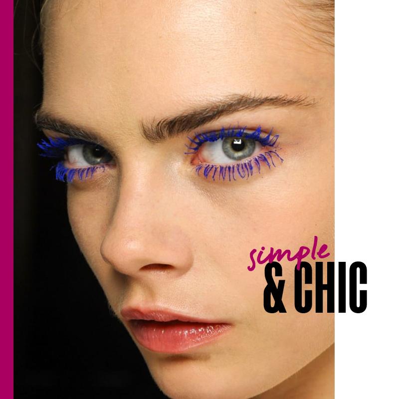 Máscaras de colores: look simple & chic   Fuente: Google Images
