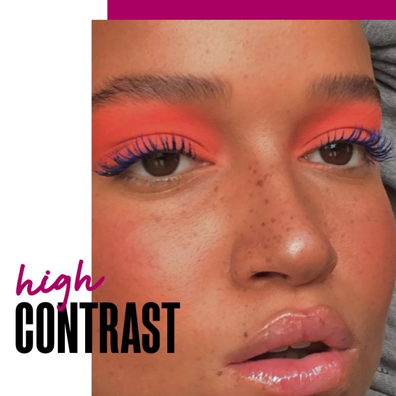 Makeup con una mirada de contraste: high contrast   Fuente: Google Images