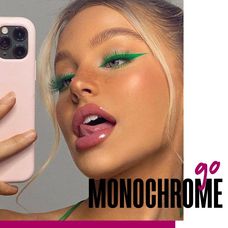 Look monocromático con máscara de color: go monochrome   Fuente: Google Images