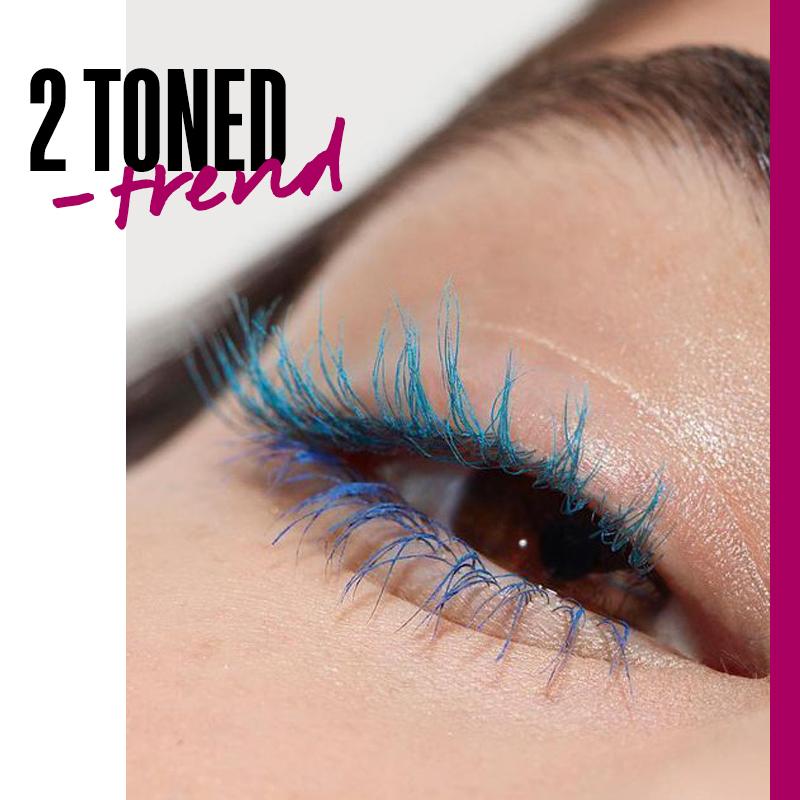 Maquillaje con dos tonos de rímel: 2 toned trend   Fuente: Google Images